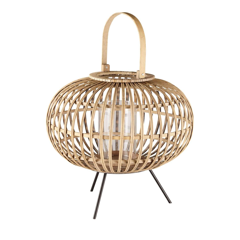 Glass And Woven Wicker Lantern Maison Du Monde Lanterne Lanterne Maison Du Monde