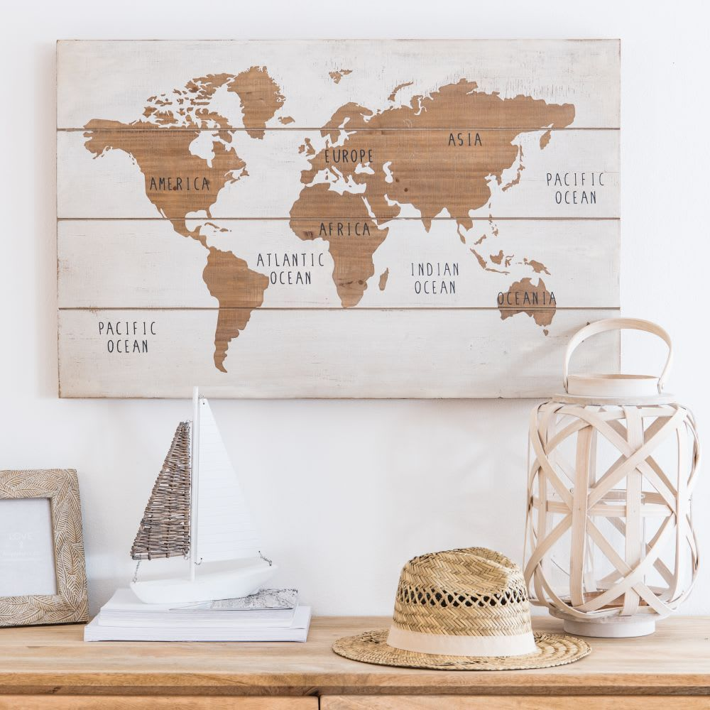 carte du monde maison du monde Déco murale in 2020 | Desk organization diy, Figurines, Surf art
