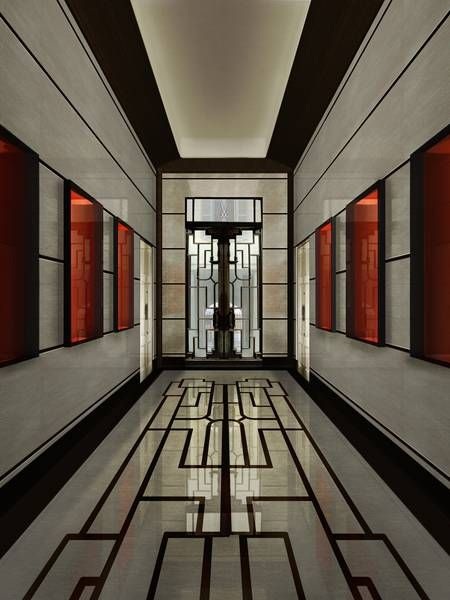 Exquisite Retro Lift Lobby: The Entrance To Villa Meissen In Milan -- Curated By: R