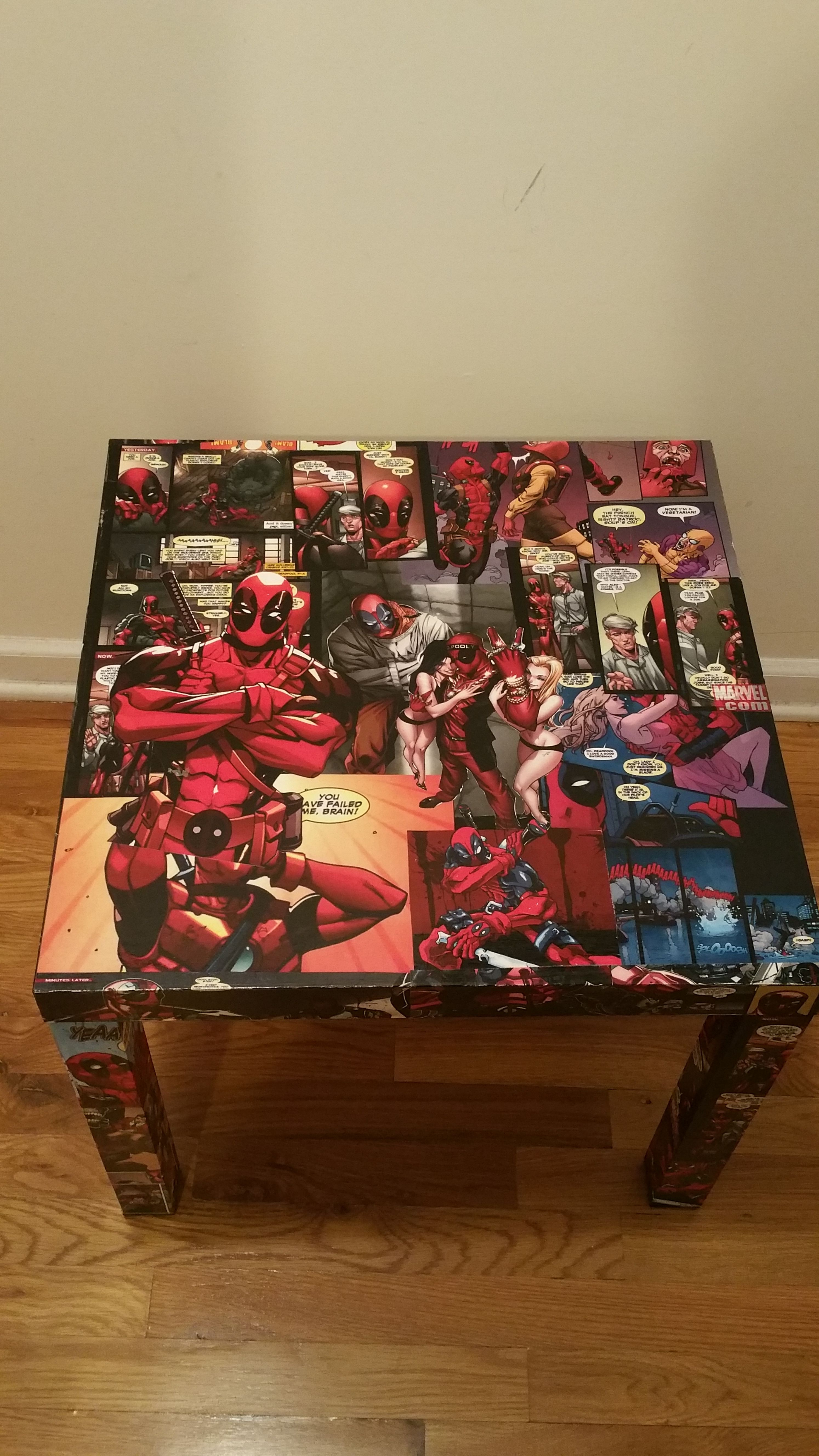 Deadpool End Table Top,video Game Table, Entertainment