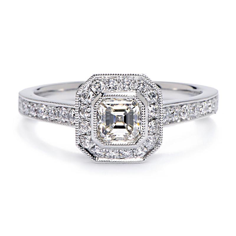Antique Princess Cut Diamond Engagement Ring Set Under 1500 35