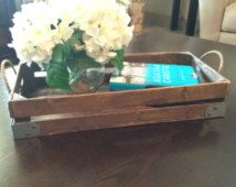Stained Decorative tray - Rustic Decor, coffee table tray, countertop tray, shelf tray, rustic industrial