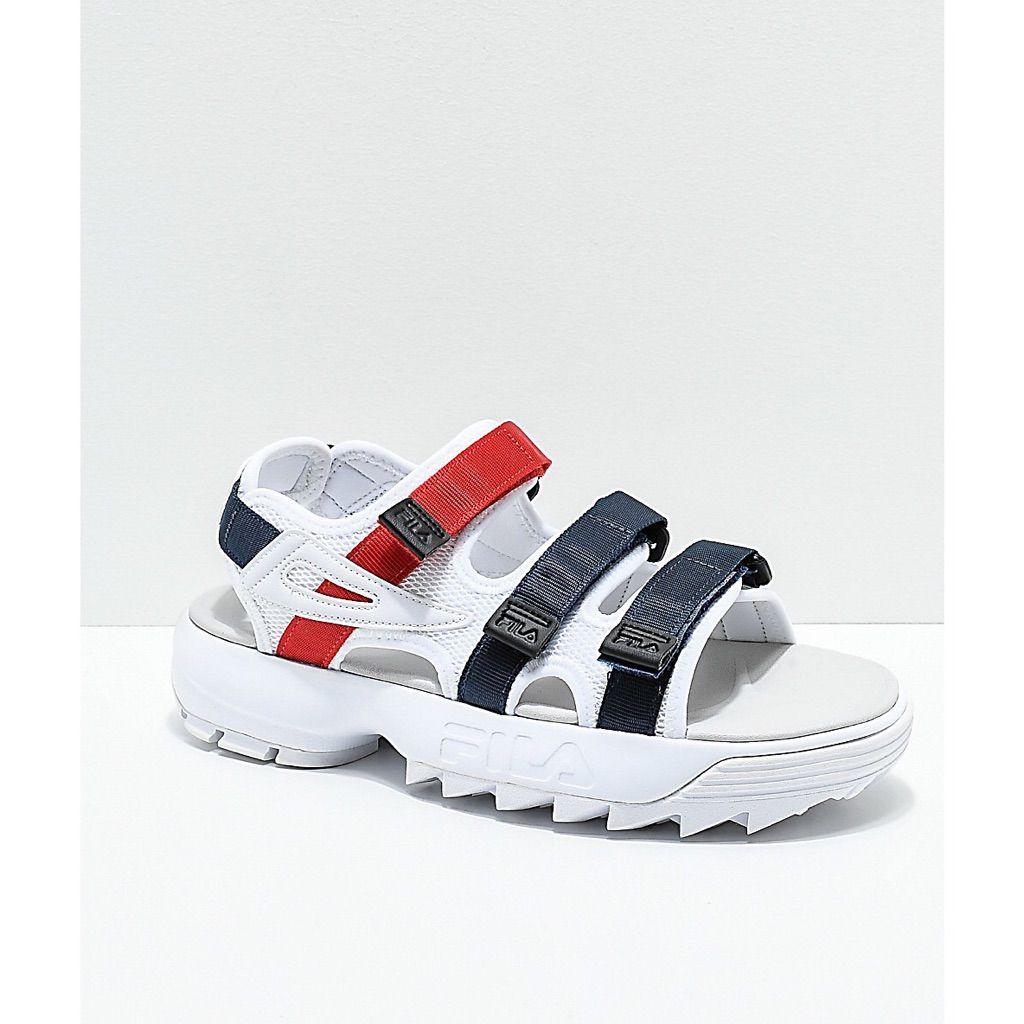 chunky fila sandals