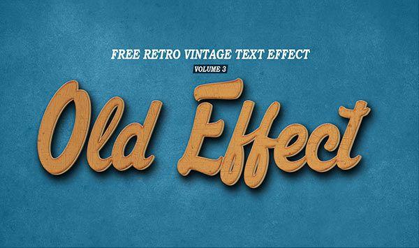 Free Vintage Retro Text Effect Volume 3 11 5 Mb Free Designs Free Photoshop Text Effect Psd Retro Vintage