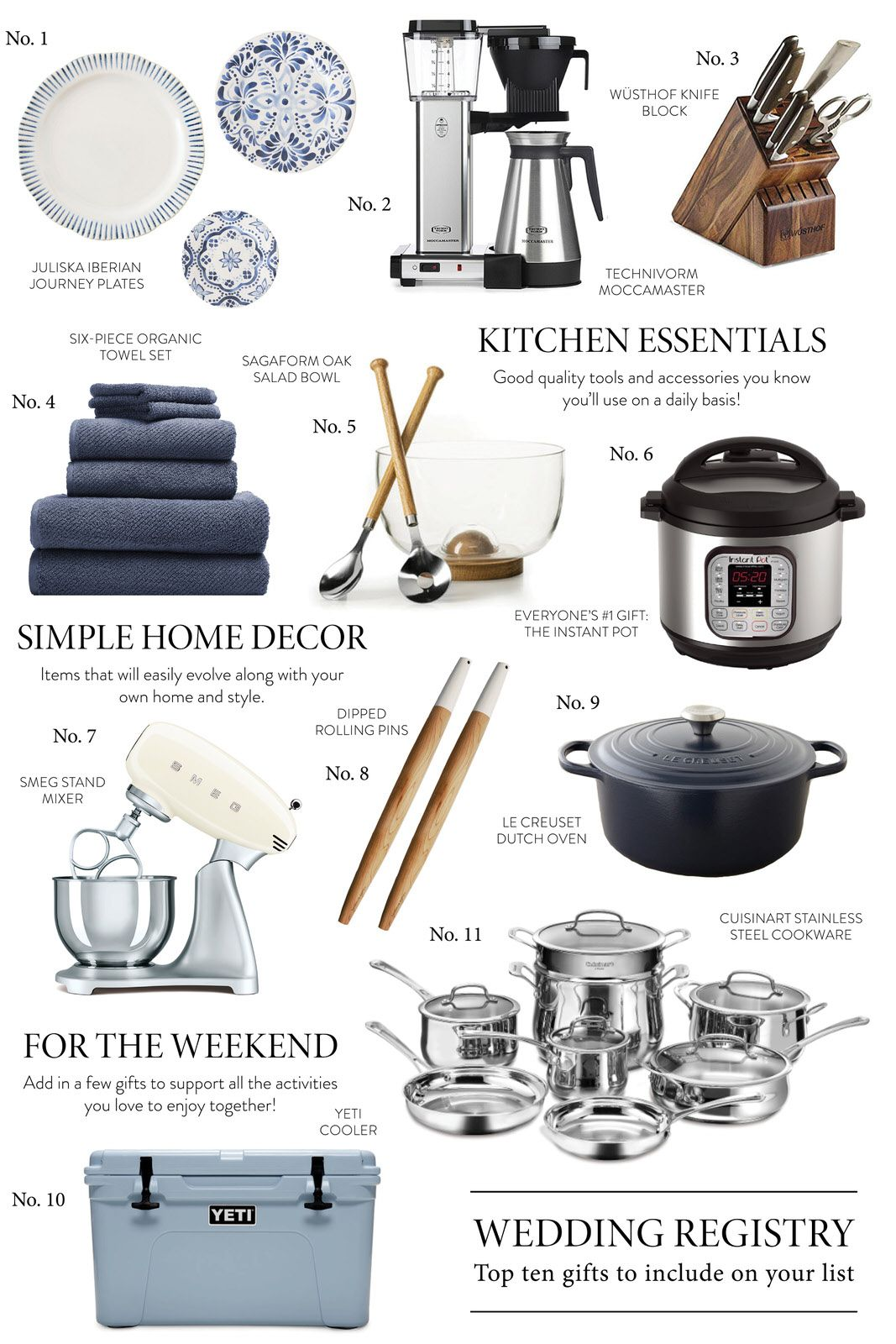 Top Ten Gifts to Include on Your Wedding Registry Hello