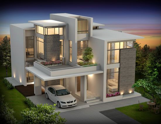 seiken contemporary designed luxury villas at calicut kerala floor plan 1959 sqft and 2300 sqft home design inspiration architecture blog pinterest - 1959 Home Design
