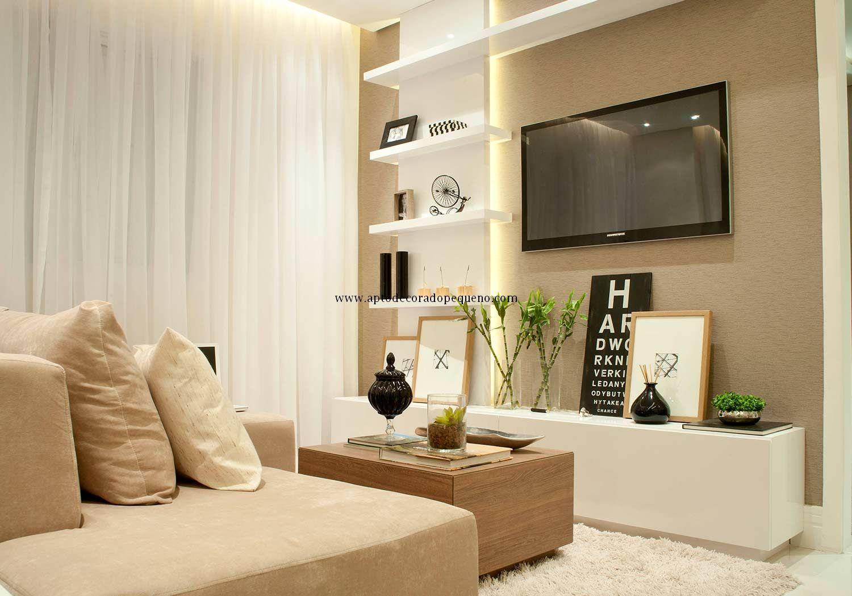 Apartamento decorado pequeno fotos living planejados 4 for Living pequeno moderno