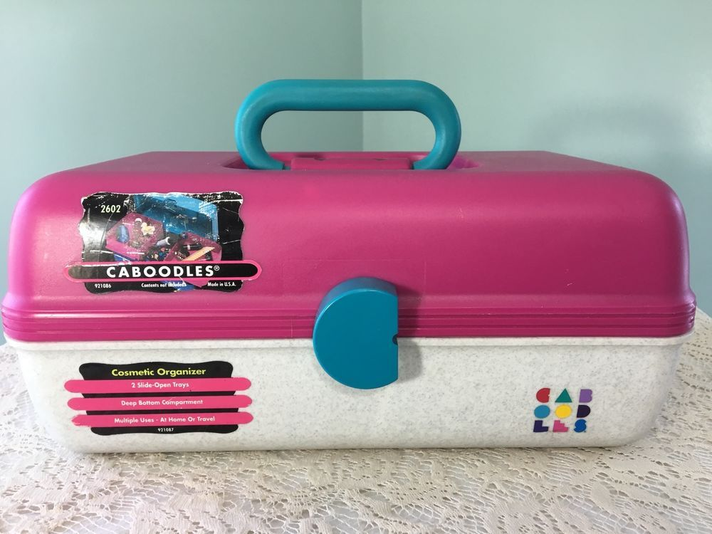 Vintage Caboodles Makeup Case 2602 Cosmetic Organizer Travel Pink