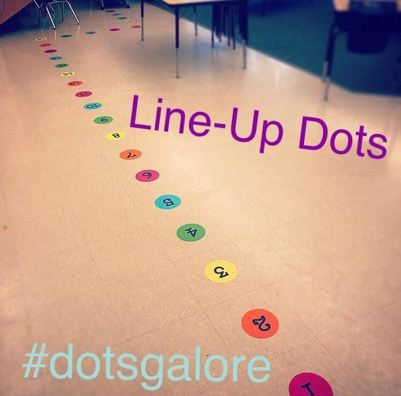 Classroom Line-Up Dots