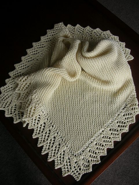 Easy Baby Blanket with Lace Option pattern by Denny Kelly | Knitting ...