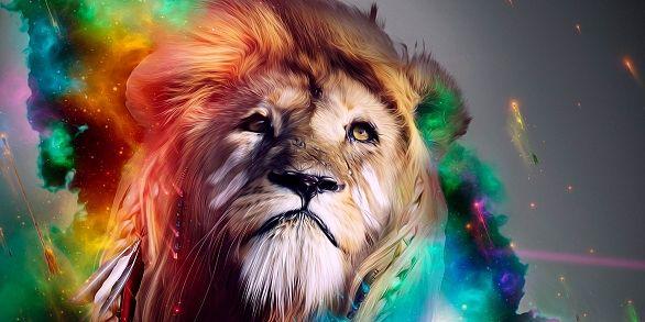 Lion Art Wallpapers Download Lion Art Hd Wallpapers Lion Art Colorful Lion Lion Hd Wallpaper Lion Wallpaper