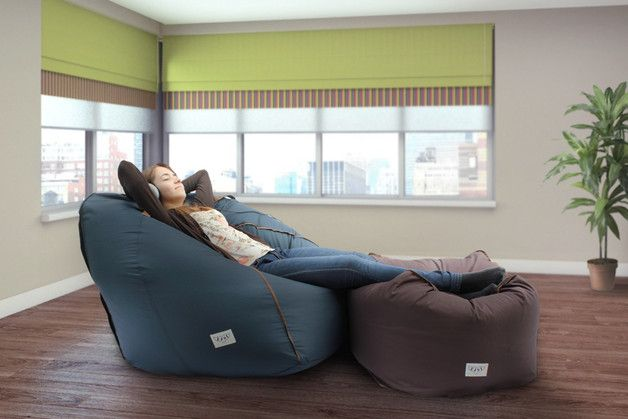 Bean Bags & Floor Cushions – Adult soft lounge chair (cover + insert only) – a unique product by ejsi on DaWanda