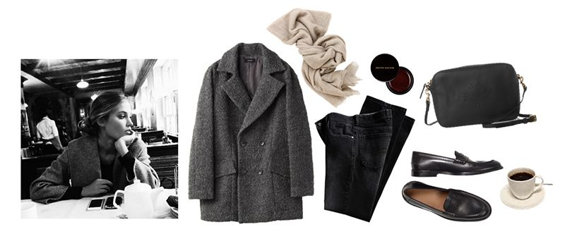 In the mood to get out my ankle boots, scarf and nubby coats! Click on the items for shopping details.