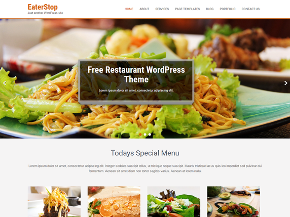 Eaterstop Lite Popular — Free WordPress Themes
