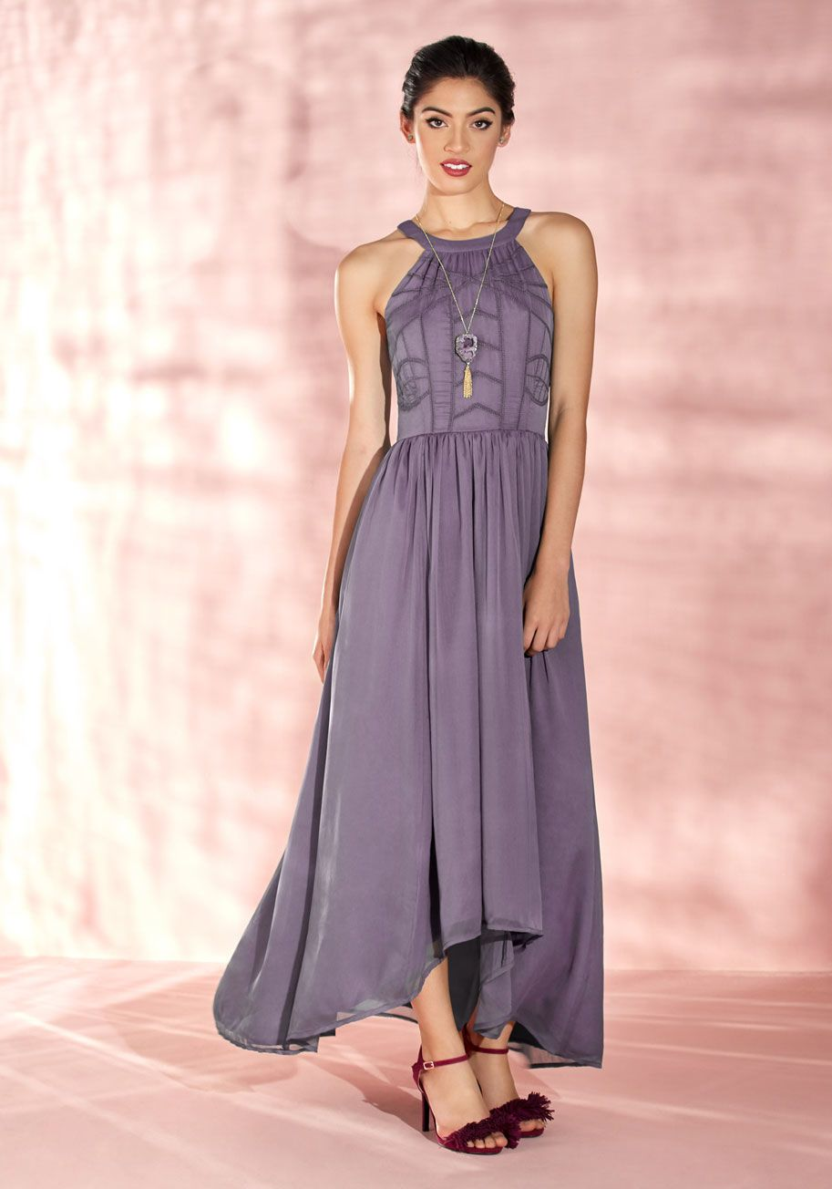Brave New Whirl Maxi Dress in Lavender | ModCloth | Marias wedding ...