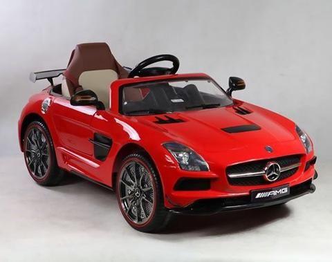 Mercedes Sls Amg Kids Ride On 12v Car Rc Led Lights Mp3 Connection Red Garagen1 1 Mercedes Sls Mercedes Benz Sls Power Wheels