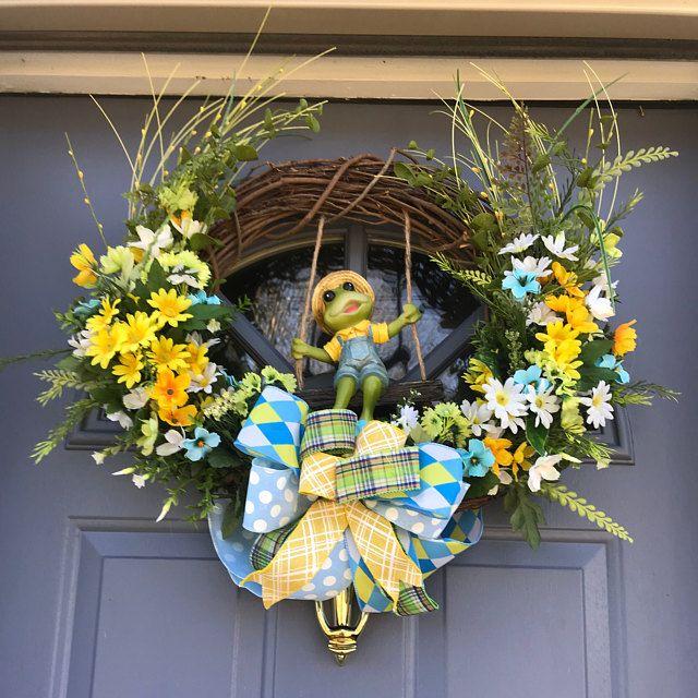 Photo of Burlap Wreath for Front Door, Everyday Wreath, Summer Wreath, Fall Wreath