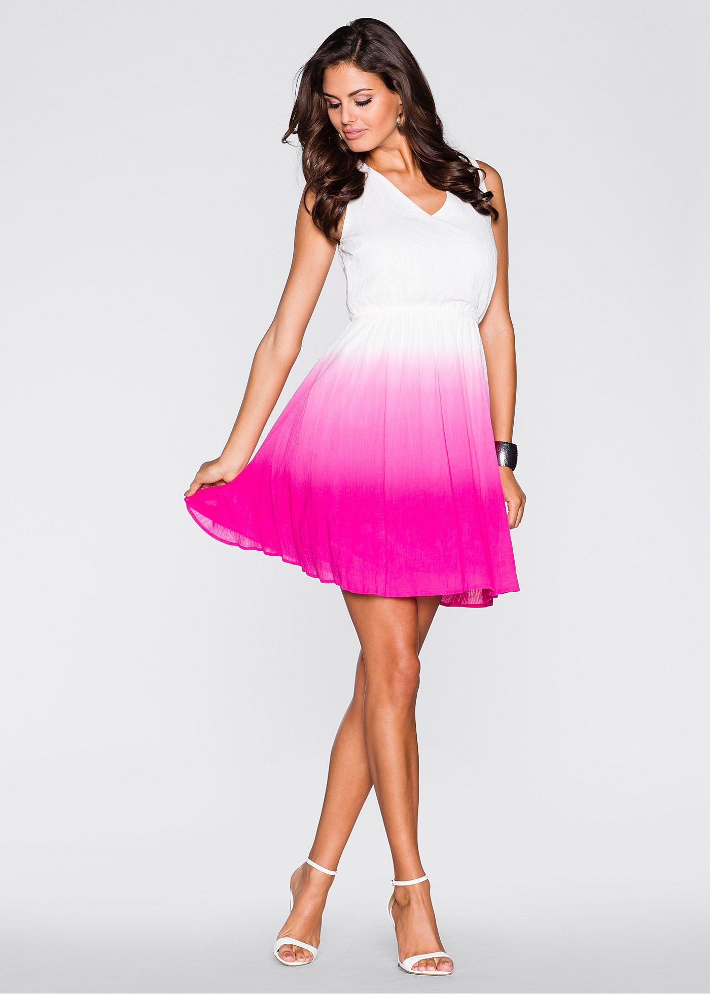 Kleid mit Farbverlauf - Tolles weißes Kleid von BODYFLIRT. Besonders ...