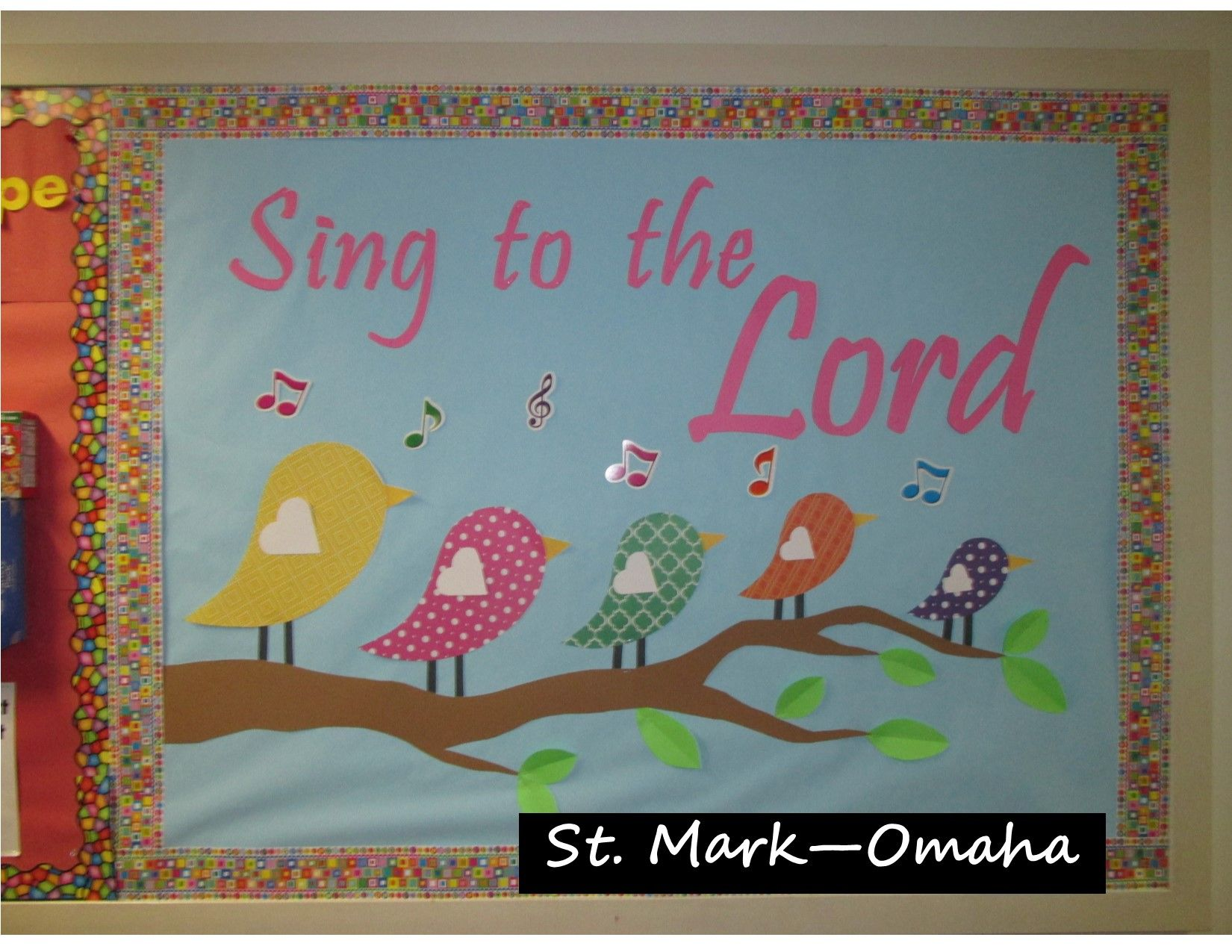 Sunday School Bulletin Board A Nice Musical Themed One For Spring Christian Boards Preschool Summer