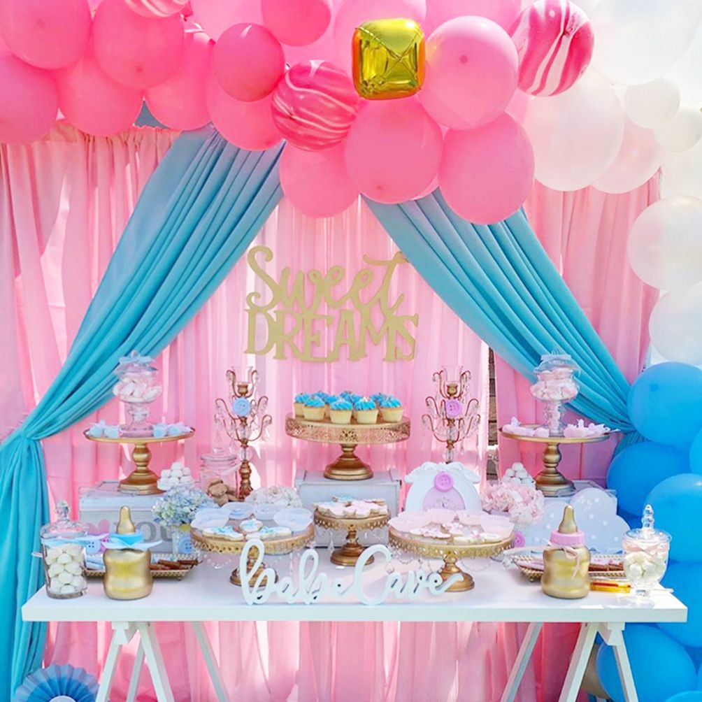 Gender Reveal Dessert Table Gender Reveal Candy Table Gender Reveal Cupcakes Gender Reveal Dessert Table