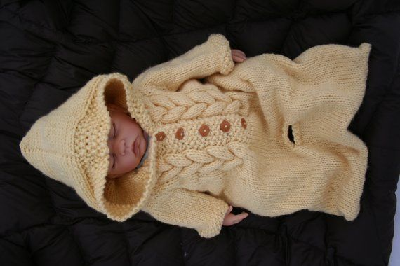 Baby Bunting KNITTING pattern | Etsy (With images) | Baby ...