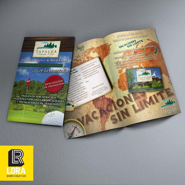 Diseño e impresión de folleto.