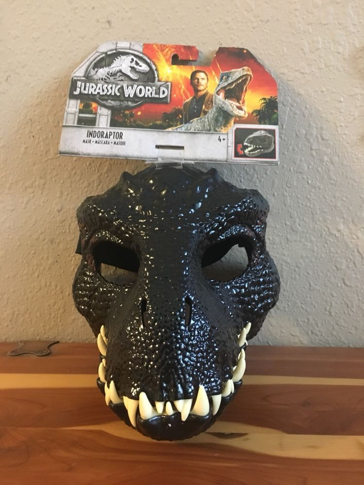 Jurassic World Dino Rivaux Masque Costume Bleu Velociraptor Halloween Enfants Nouveau