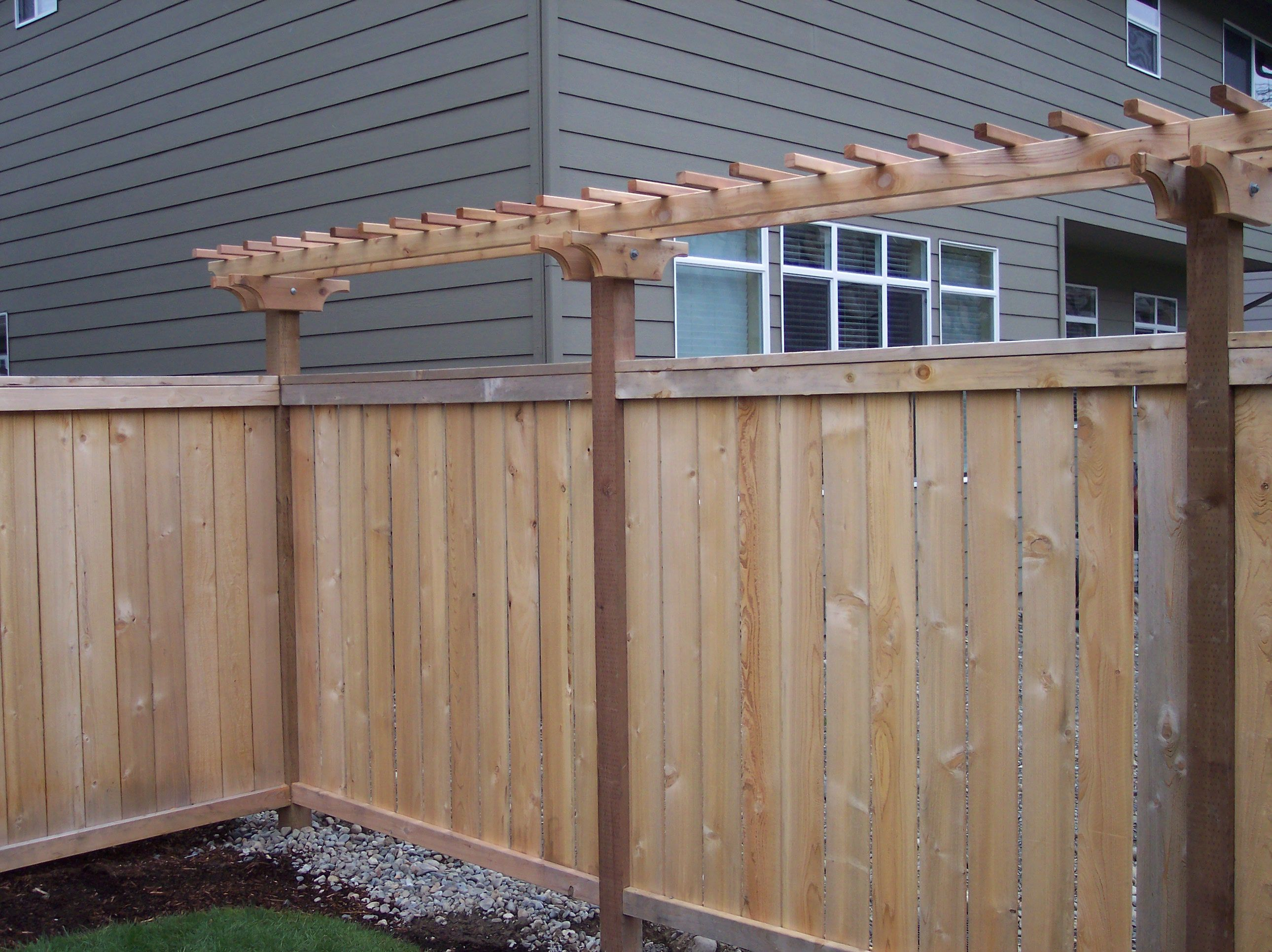 Simple trellis addition to the fence outside pinterest for Trellis design ideas