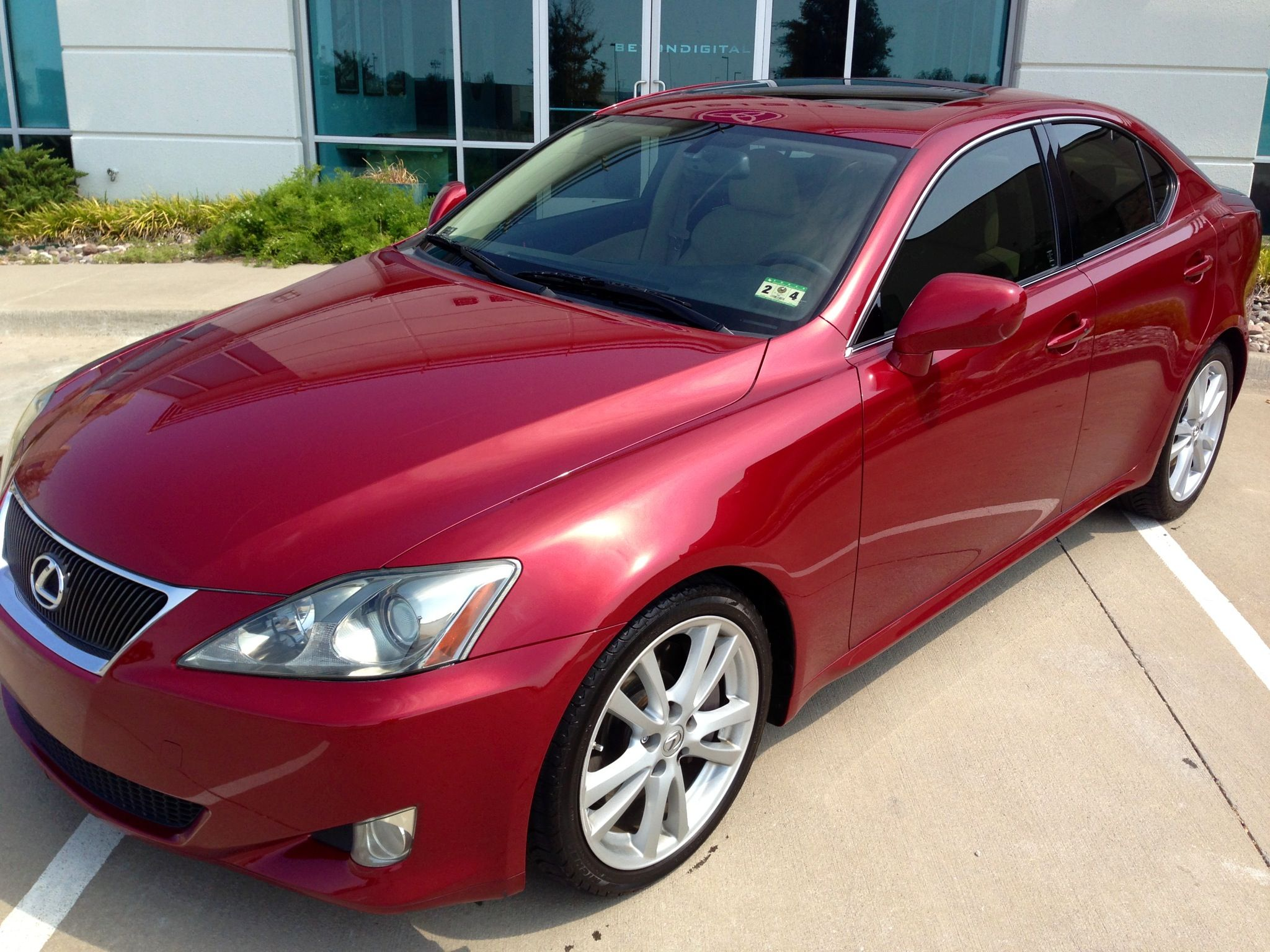 Lexus is350 for 18500 color matador red mica