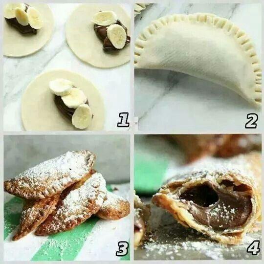 Empanadas de nutella con bananos