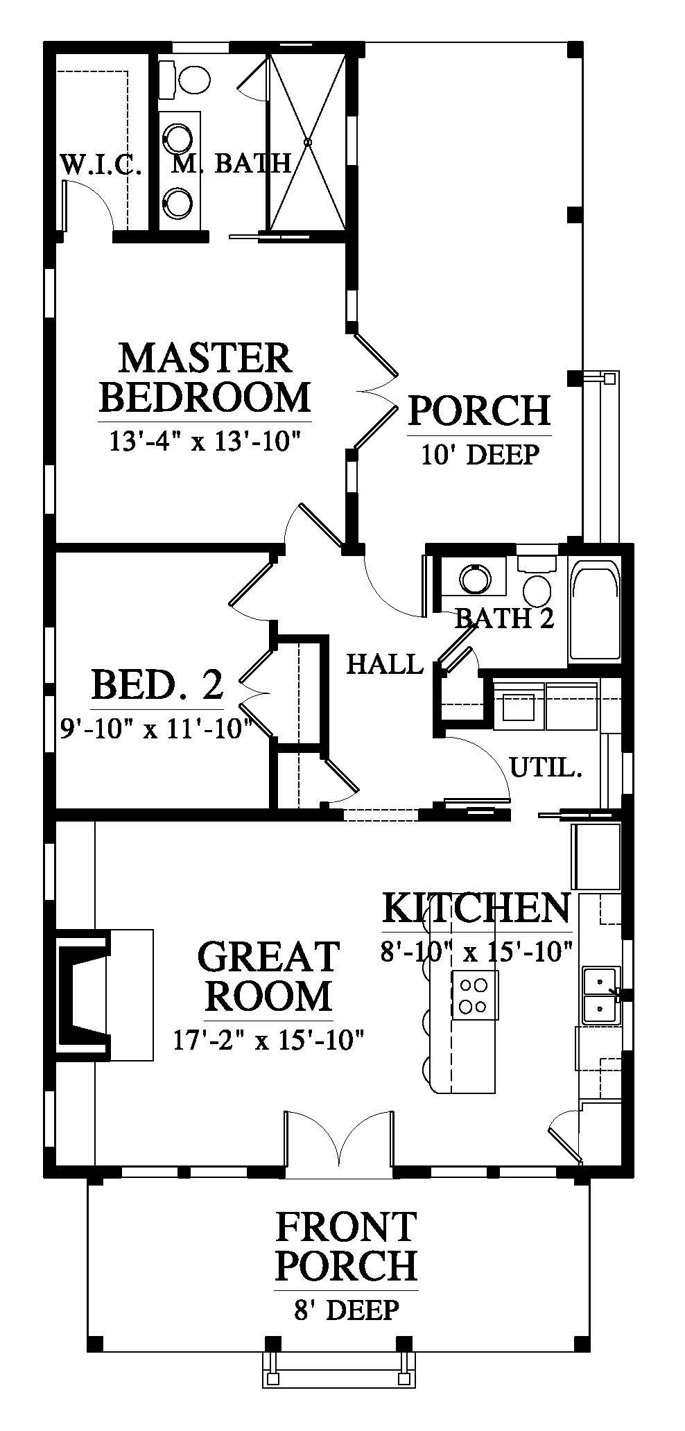 Saluda River Cottage 18548 House Plan 18548 Design From Allison Ramsey Architects House Floor Plans House Plans River Cottage