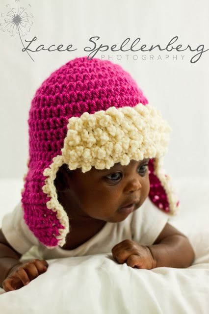 Aviator Hat Crochet Pattern, Newborn Baby to Adult Man | Bebes ...