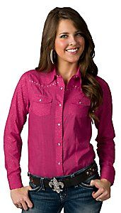 ff0fb4564c2c7 Cumberland Outfitters® Women s Pink Leopard Burnout Long Sleeve Western  Shirt - Plus Sizes
