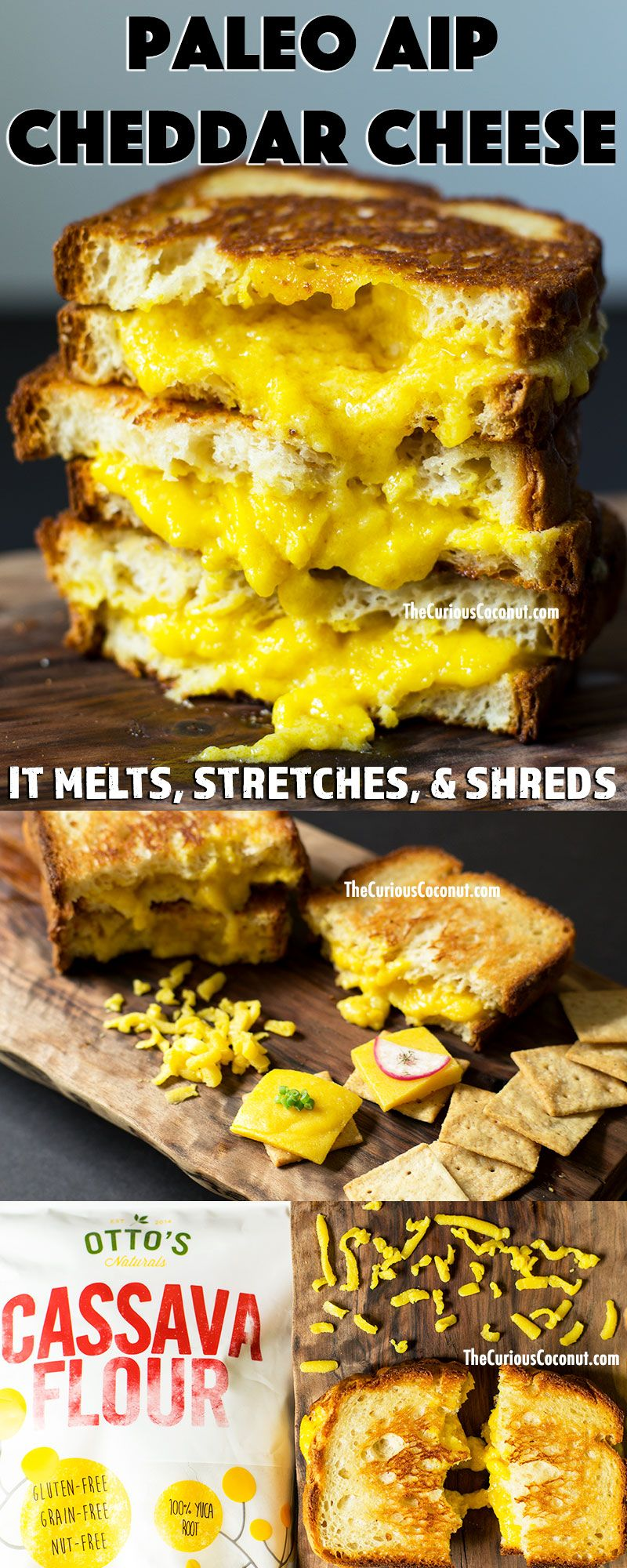 Paleo Meltable Stretchy Shreddable Cheddar Cheese Aip Dairy