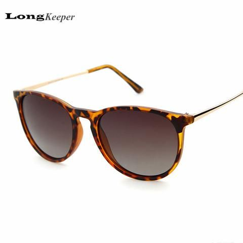 e1da2e33b9 LongKeeper Classic Elegant Women s Sunglasses Polarized Lens Sunglasses  Oval Cat Eye Men Women Sun Glasses Black Brown Leopard