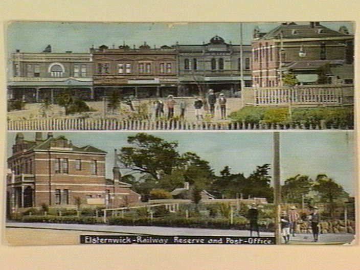 Elsternwick - Railway Reserve and Post-Office. [picture] , State Library of Victoria