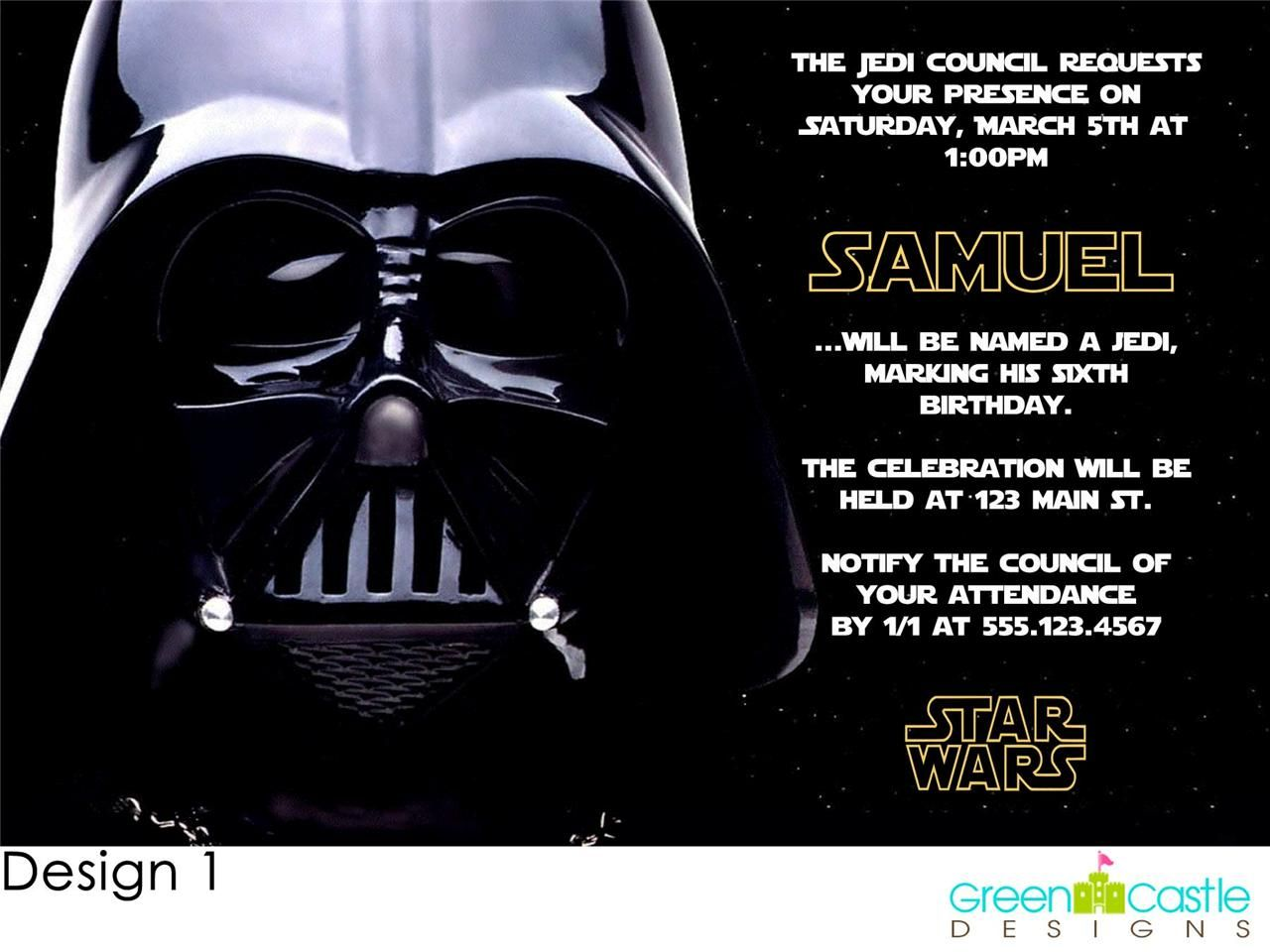 Star Wars Birthday Clipart Invitation Sample Pinterest Star