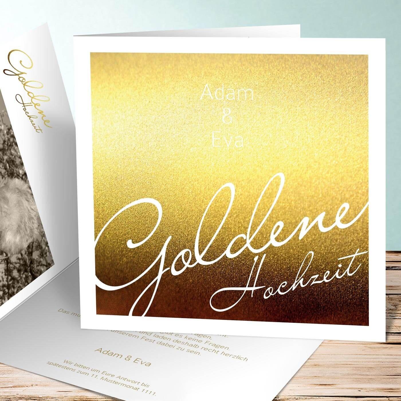 Beispiele Für Eure Einladung Goldene Hochzeit Mit Text Und In Bildern Haben  Wir In Unserer Bildergalerie Für Euch... | Tipps U0026 Ideen | Viele  Beispielbilder