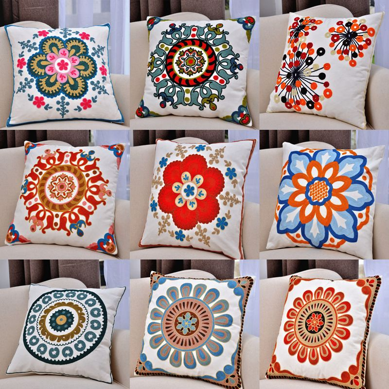 Ikea Decorative Pillows Unique 2015Almohadónbordadowithoutnúcleocottonlinendecorativathrow Design Decoration