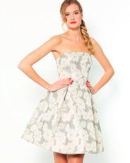Kjole i bustier-modell