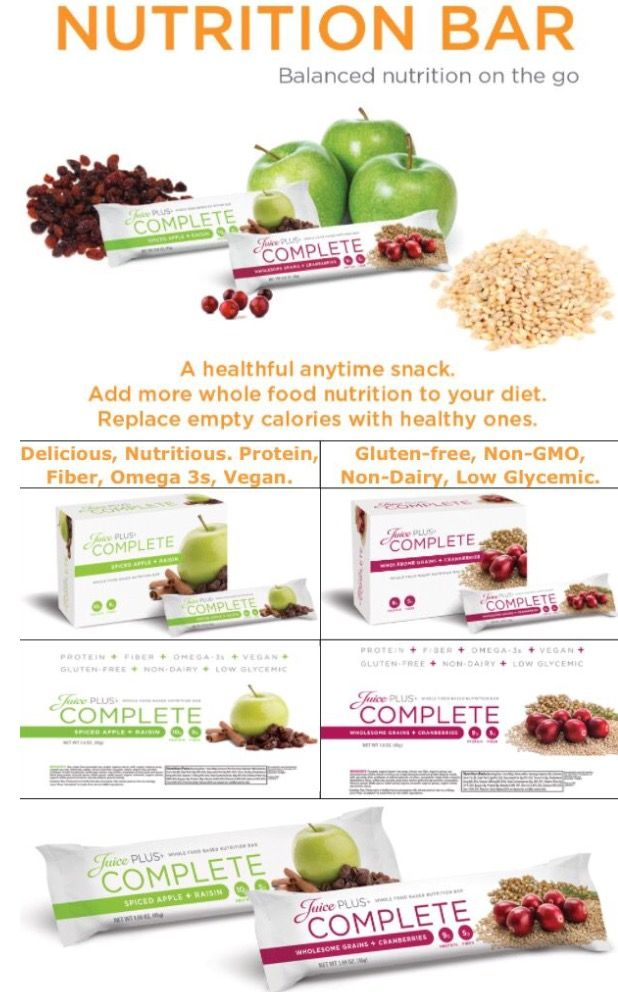 Juice Plus Nutrition Bars High In Protein High In Fiber And Low