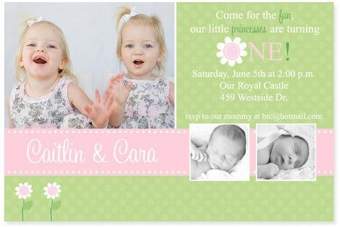 invites for twin birthday party Twins Pinterest