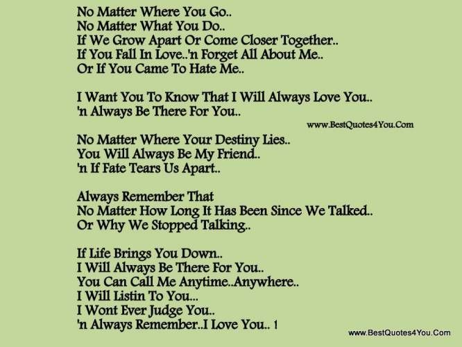 I Love You Forever Poems | Ill Always Love You Quotes ...