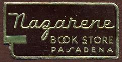 Nazarene Book Store label, Pasadena, California (38mm x 19mm). Courtesy of Donald Francis.
