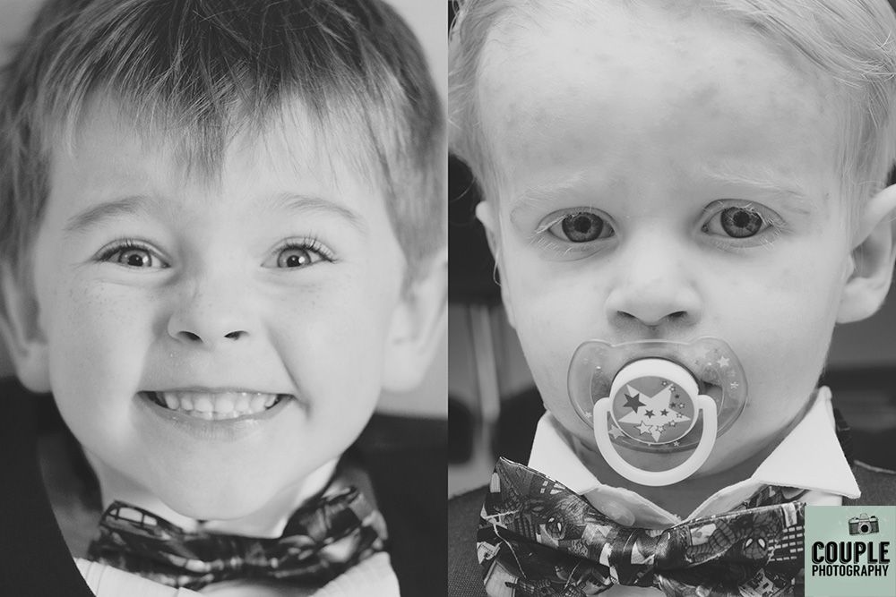 The two kids on the wedding day. Guess which one has the chickenpox? Weddings at Tulfarris Hotel Photographed by Couple Photography.