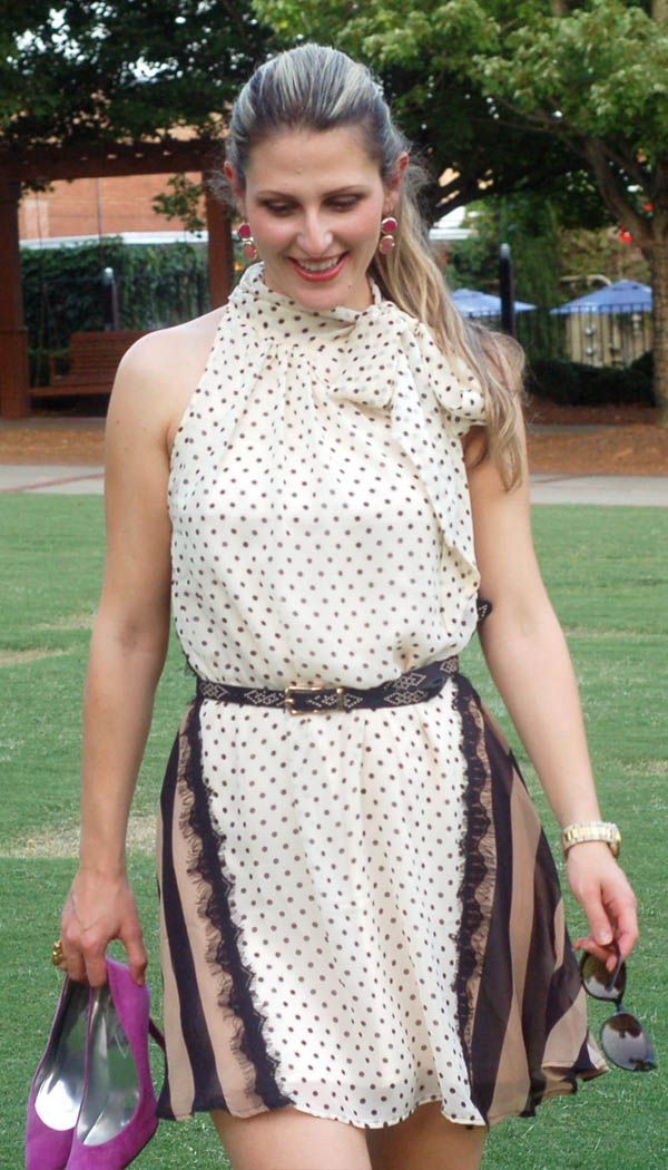TeodoraB.com cream and dots dress | Alluring | Pinterest