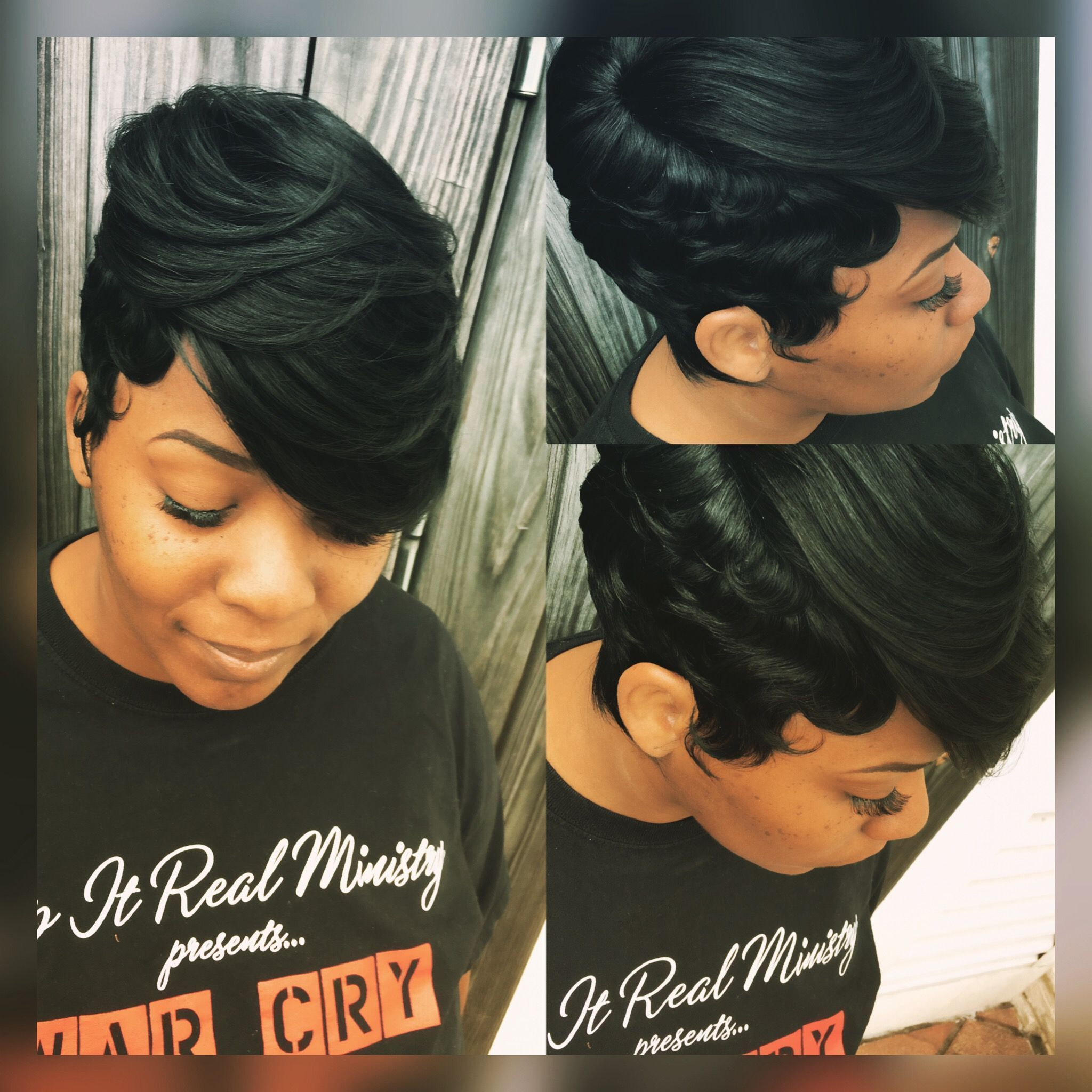 27 Piece Quickweave Black Hairstyles Black Hair Short Hair Short Hairstyles 27piecehairstyles 27 Pi In 2020 Quick Weave Hairstyles Short Wavy Hair Hot Hair Styles