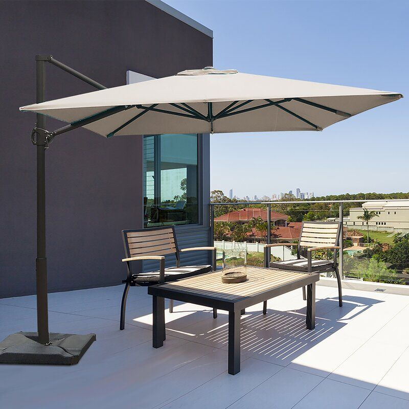 Fordwich 8 X 10 Rectangular Cantilever Umbrella Cantilever Patio Umbrella Rectangular Patio Umbrella Patio Umbrella