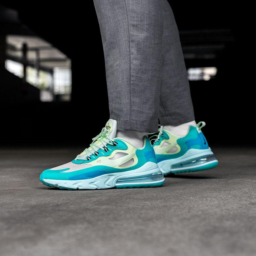 Nike Air Max 270 React In Blau Ao4971 301 Everysize Sneakers Mode Nike Air Max Sneaker Trend