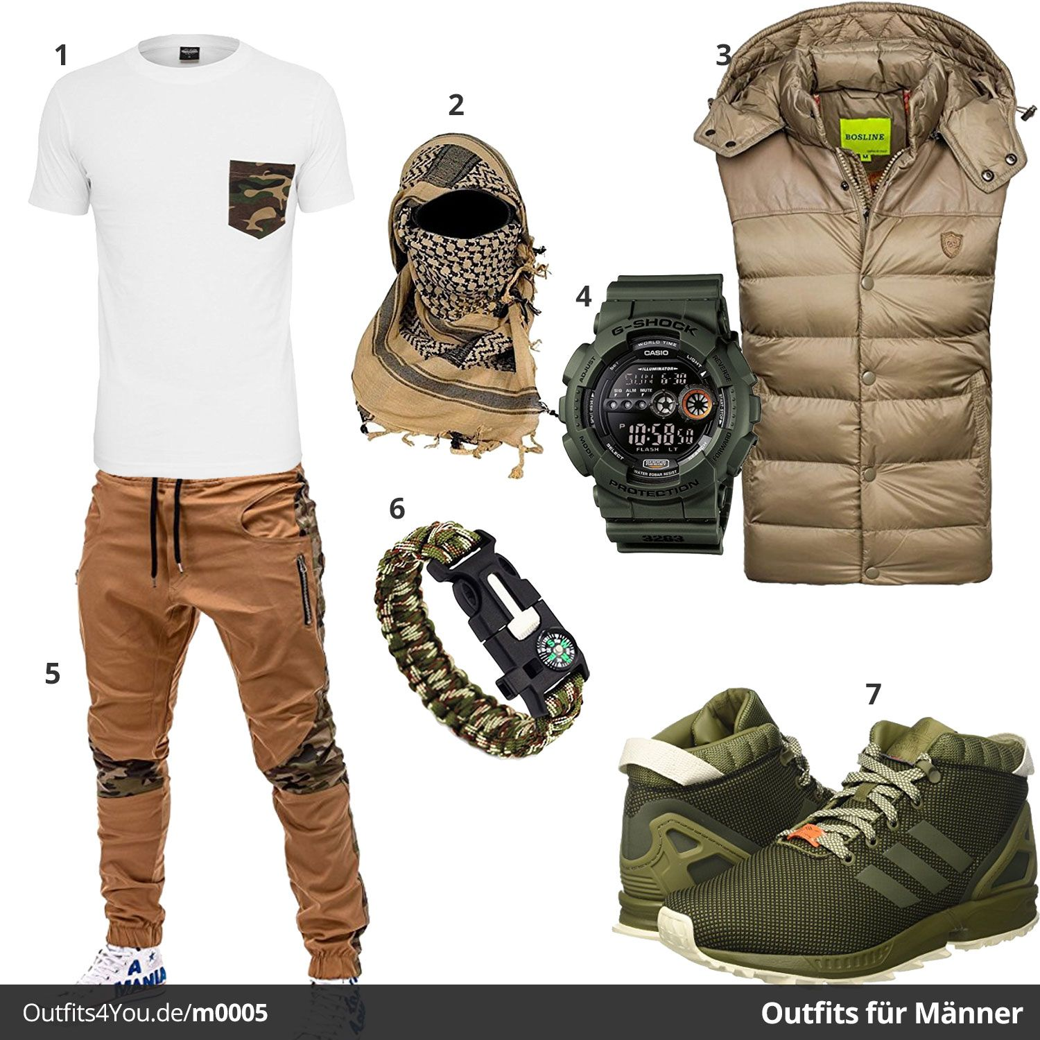 Männer Outfit im Army Stil (m0005 | Casual wear for men